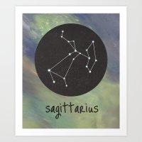 sagittarius Art Prints featuring Sagittarius by snaticky