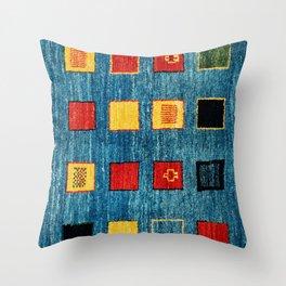 Qashqai Fars South West Persian Rug Print Throw Pillow