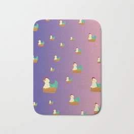 Chicken Party! Bath Mat