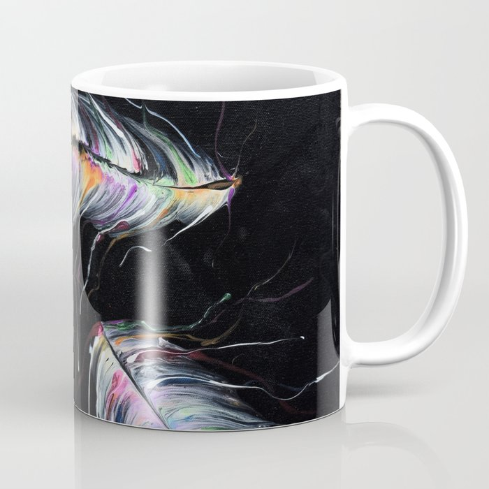 Neon Feathers Coffee Mug
