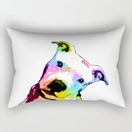 Pit bull | Rainbow Series | Pop Art Rectangular Pillow