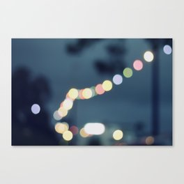 Along the bokeh line Canvas Print