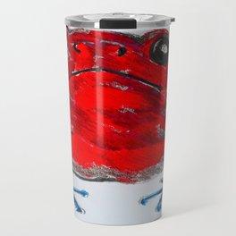 red posion dart frog Travel Mug