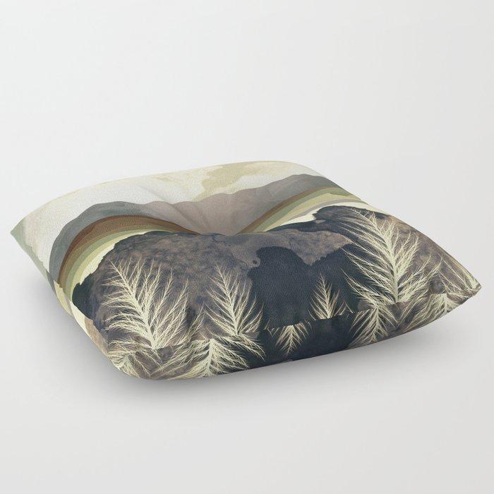 Retro Afternoon Floor Pillow