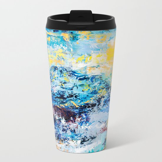 Visionary mountain Metal Travel Mug