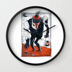 The Haunted Conductor Wall Clock