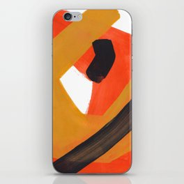 Minimalist Abstract Colorful Shapes Yellow Orange Black Mid Century Art iPhone Skin