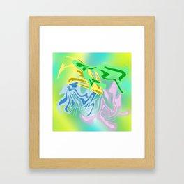 flower ink pattern Framed Art Print