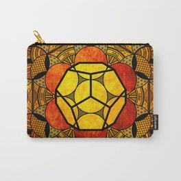 Sacred Geometry for your daily life -  Platonic Solids - ETHER COLOR Carry-All Pouch