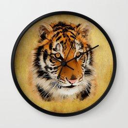 The Tiger Stare Wall Clock