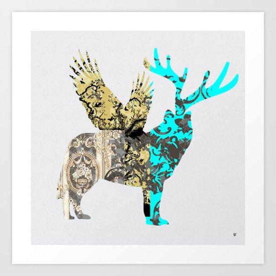 FabCreature · Steppenwolf 3 Art Print
