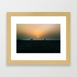 """SURF WALK"" kitesurf . kite . surf Framed Art Print"