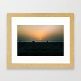 """""""SURF WALK"""" kitesurf . kite . surf Framed Art Print"""