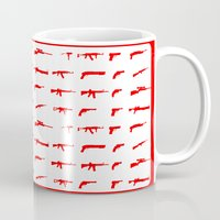 guns Mugs featuring Guns by Abdelati Dinar