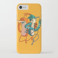 regular show iPhone & iPod Cases featuring Mordecai & Rigby // Regular Show by Daniel Mackey