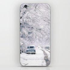 Winter on Beechwood Lane iPhone Skin