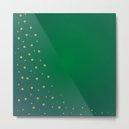 Green And Gold Background Metal Print