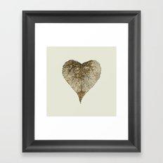 heart nature Framed Art Print