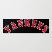 yankees Canvas Prints featuring Boston Yankees by jekonu
