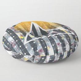 Polarized - triangle sunset Floor Pillow