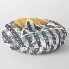 Polarized - triangle sunset Floor Pillow