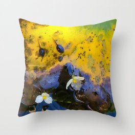 Two tadpoles Throw Pillow
