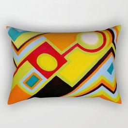 """My way"" Original oil finger painting by Monika Toth Rectangular Pillow"