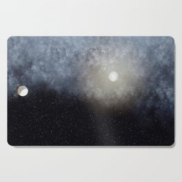 Glowing Moon in the night sky Cutting Board
