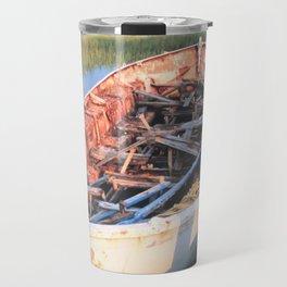 Aged Row Boat Travel Mug