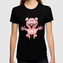 Cheerful little pig T-shirt