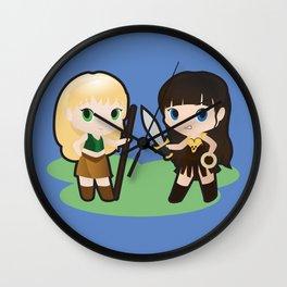 Geek Babies: Xena & Gabrielle Wall Clock