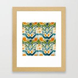sugarsnap balinese ikat Framed Art Print