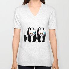 Gay Pride Pandas Unisex V-Neck