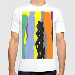 Abstract Cityscape Colour T-shirt