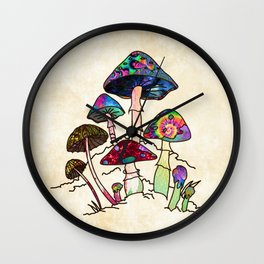 Garden of Shroomz Wall Clock