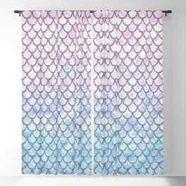 Pastel Mermaid Scales Pattern Blackout Curtain