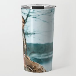 Ponemah by the Lake - Ojibwe Woman - American Indian Travel Mug
