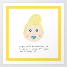 Congrats on your new baby! Art Print