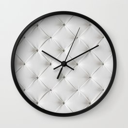 White Tufted Wall Clock