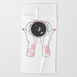 Space Coffee Beach Towel
