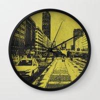 milan Wall Clocks featuring Milan 2 by Anand Brai