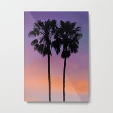 Purple Palms Metal Print