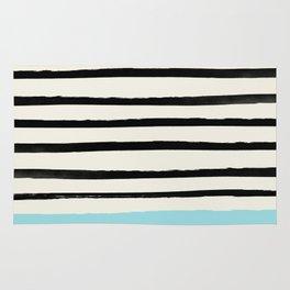 Sky Blue x Stripes Rug