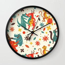 Pandemic Pattern - No Humans Wall Clock