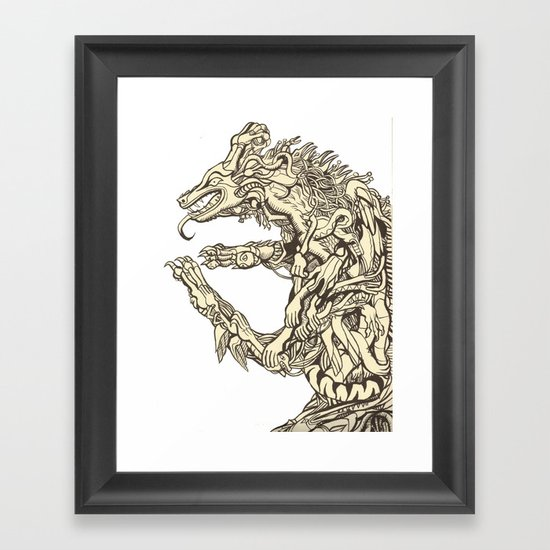Belly of the Beast Framed Art Print