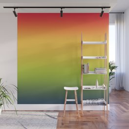 Abstract Colorful Tropical Blurred Gradient Wall Mural