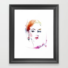 woman with earring 2 Framed Art Print