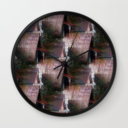 Rooftops see-through pattern Wall Clock