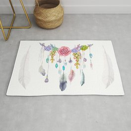 Spirit Gazer With Crystals And Succulents Rug