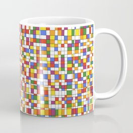 Rainbow Grid with White Background - Withstanding Coffee Mug